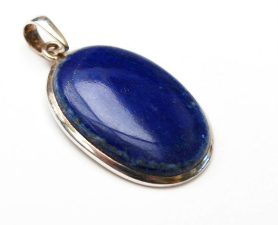 Lapis Pendant blue gemstone sterling silver jewelry making crafting pendants