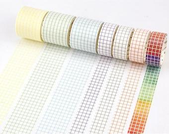 Grid Washi Tape - Note Tape, Journal/Planner/Sracpbooking Supplies
