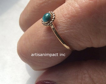 Engagement ring, turquoise ring, Gold Filled ring, unique ring, simple Gold ring, dainty ring, delicate ring, boho ring - So close R2250