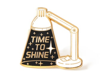 Inspirational enamel pin, Motivational pin, Space pin, Space lover, Inspiring lapel pin, Typographic pin, Lamp pin