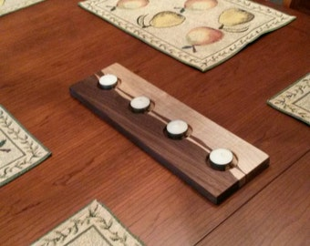 HARMONY ~ Walnut & Maple tealight candle holder