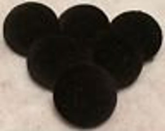 Black Buttons, Velvet Buttons, Buttons, Covered Buttons, 20mm Buttons, Shank Buttons, Coat Buttons, Sewing Buttons, Upholstery Buttons