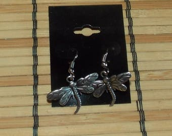 Pewter Dragonfly Earrings FREE SHIPPING!