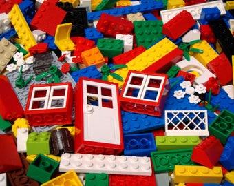 100 Bulk Lego Pieces: Bricks Blocks Plates Slopes Window Door Plants+ Mixed Lot