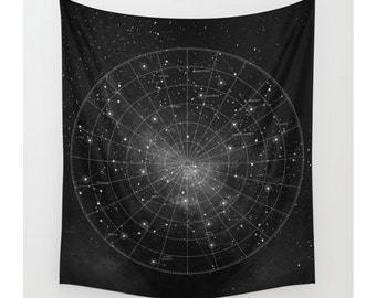Constellation Wall Tapestry, Wall Hanging, Star Map, Astronomy, Astrology, Celestial Map, Space, Wall Art, Wall Decor, Home Decor