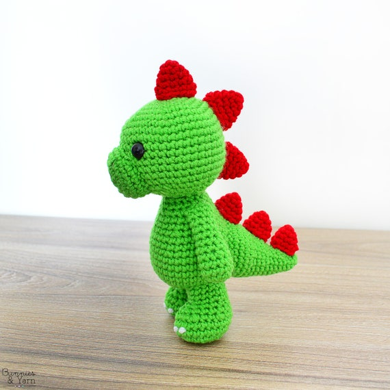 Patrón de Crochet en Inglés Tim el Dinosaurio Encantador