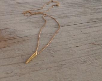 Leigh Golden Spike Necklace