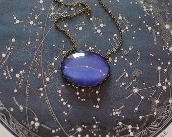 Aries Zodiac Necklace. Aries Constellation Necklace. Aries Necklace. Aries Star Sign Necklace. Zodiac Jewelry. Astronomy. Zodiac Sign.