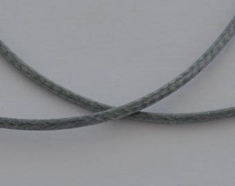 5 m cord waxed polyester grey thickness 1.5 mm