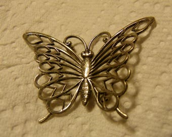 Beau Sterling USA Lovely Sterling Silver Butterfly Brooch