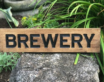 Brewery Sign. Rustic Brewery sign