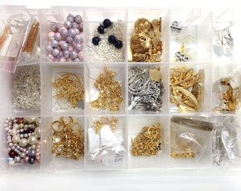 Bulk Lot Mix Box Full of DIY Jewelry Supplies Crafts