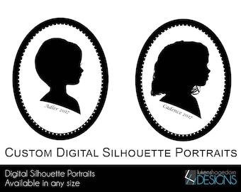 Custom Digital Silhouette Portraits