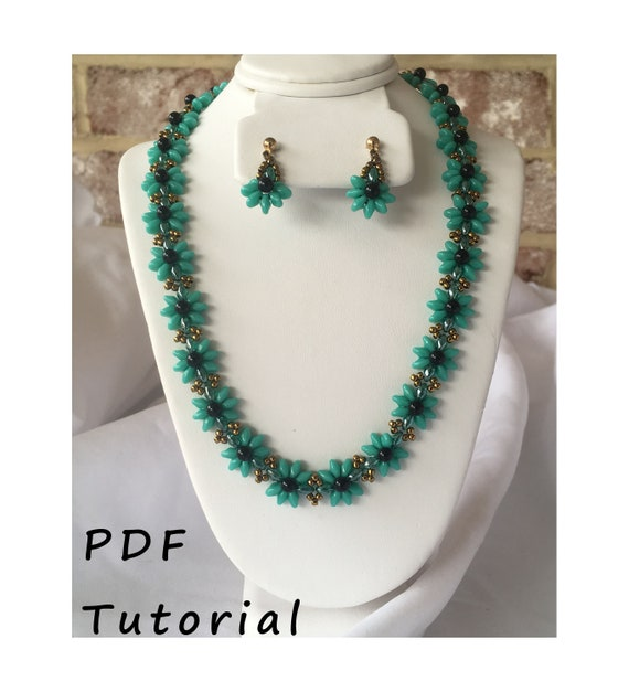 Pretty Posy Necklace and Earring Set PDF Tutorial/Pattern