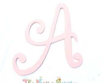 Script Pink Painted Letters - Script Pink Nursery Letters - Pink Nursery Decor - Girls Nursery Decor - Pink Monogram - Pink Wood Letters