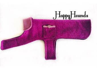 Genuine Harris Tweed Pink and Lilac luxury Coat/Jacket for Jack Russel Size Pets.