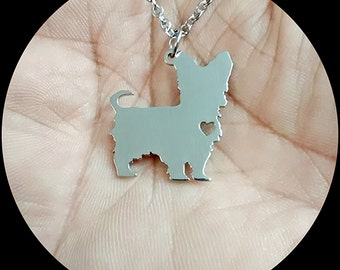 Yorkie necklace etsy yorkshire terrier necklace aloadofball Gallery