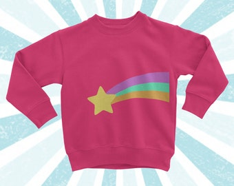 Child Size Mabel Sweater - Gravity Cosplay - Long Sleeve shirt - Mystery - Falls - Pines - pines Sweater - Crew Sweatshirt - shooting star