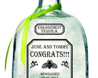 Engagement or Wedding Gift Patron 750 mL labels