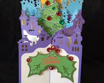 Cascade Christmas Tree card