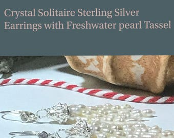 Süßwasser-Zuchtperlen Quaste - Sterling Silber Ohrringe Leverback Perle Quastenohrringe, Sterling Silber Braut Ohrringe