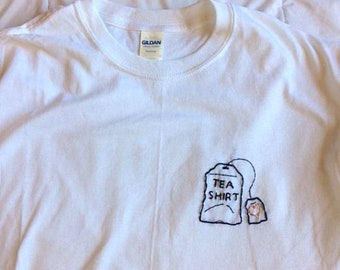 Tea Shirt hand-embroidered top
