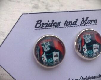 Emo Earrings Gothic Earrings Skull Earrings Punk Earrings Stud or Dangle Skull Studs Gothic Studs Zombie Skeleton Earrings Gothic Jewelry
