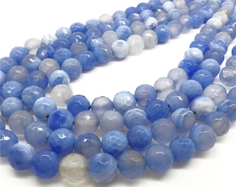 10mm Faceted Agate Beads, Gemstone Beads, Wholasela Beads