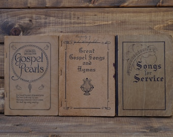 Early 1900s Hymnals - Set of 3