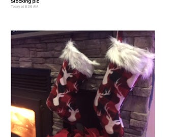 Lodge Style Fleece Christmas Stocking