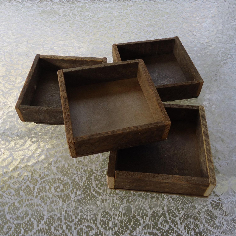 Wood box rustic wood tray reclaimed wood frame wedding zoom junglespirit Images