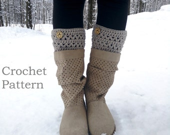 CROCHET PATTERN - Chilly Willie Boot Cuffs (Adult: xsm, sm, med, lg, xl)