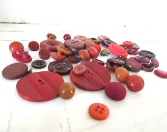 Marsala Wine Buttons, Vintage Buttons, Sewing Supplies, Assemblage Jewelry
