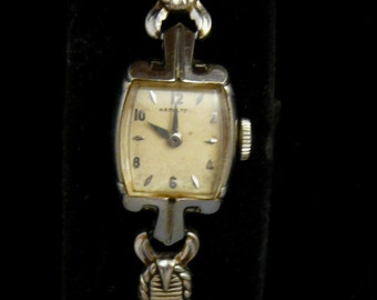 14K Hamilton Solid White Gold Ladies Watch Manual Wind-Up Vintage