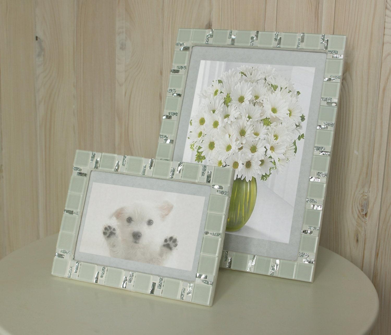 White frame set - 5x7 frame - 8x12 frame - Mosaic frame set ...