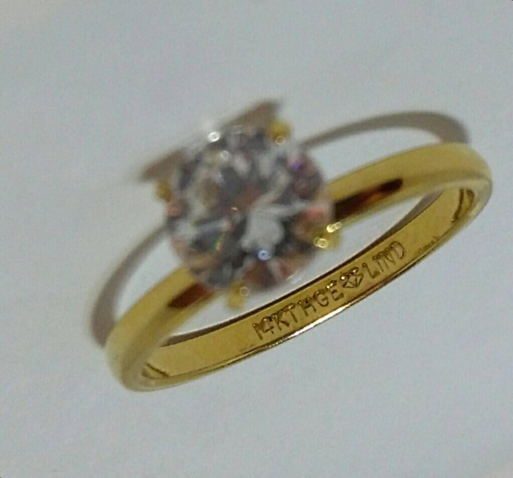 Relatively Vintage Solitaire Ring, Engagement Ring, Wedding Ring, 14KT HGE  LO53