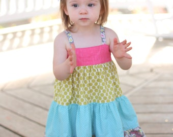 Baby Ellie Dress PDF Sewing Pattern, including sizes newborn - 4 years, Baby Pattern