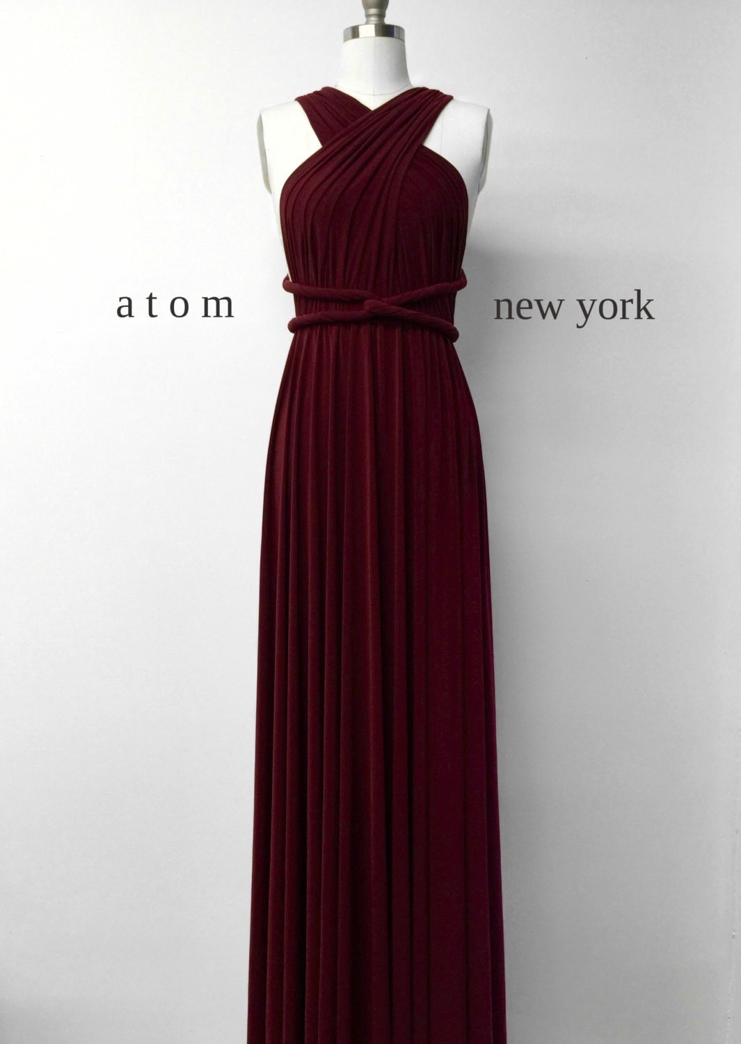 Infinity bridesmaid dresses made in new york city by atomattire burgundy wine red long floor length ball gown infinity dress convertible formal multiway wrap dress bridesmaid ombrellifo Choice Image