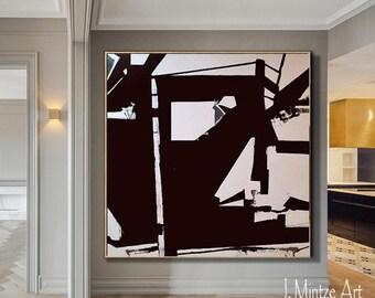Black and White Art, Original Artwork, Canvas Art, Original Art, Modern Art, Contemporary Art, Wall Art, Wall Décor, Large Art