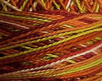Valdani Variegated Perle Cotton Embroidery Thread - Size 8, 73 yd, Single ball AUTUMN M37