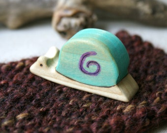 Wood n Wool Slow Snail- Blue