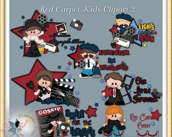 Movie Clipart, Red Carpet Kids 2