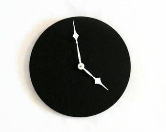 Large Wall Clock, Black Home Decor,  Home and Living, Decor and Housewares