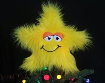Christmas Tree Topper - Tree Topper - Star Tree Topper - Muppet Style Christmas
