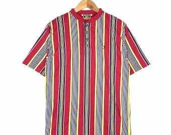 Rare!! Vintage Duck Head Multicoloured Striped Design T Shirt XL Size