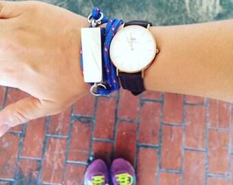 Fitbit Flex Bracelet for FitBit Flex: Nylon cording with id tag bracelet for Fitbit Flex jewelry- ROYAL BLUE!!!Tech wearable, tech savvy