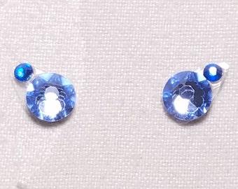 Pale Blue & Blue Eye Candies ATS Tribal Fusion Bindi - 00117