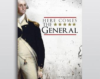 "Hamilton Musical ""Right Hand Man"" Poster - George Washington"