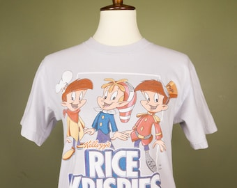 Vintage 90s Tee Rice Krispies Kellogs Snap Crackle Pop Retro Tee 90s clothing vintage tshirts funny t shirts ~ Unisex Small