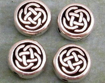 Celtic Circle Small Bead, Antique Silver, 7 mm, TierraCast 4 Pc. TS81